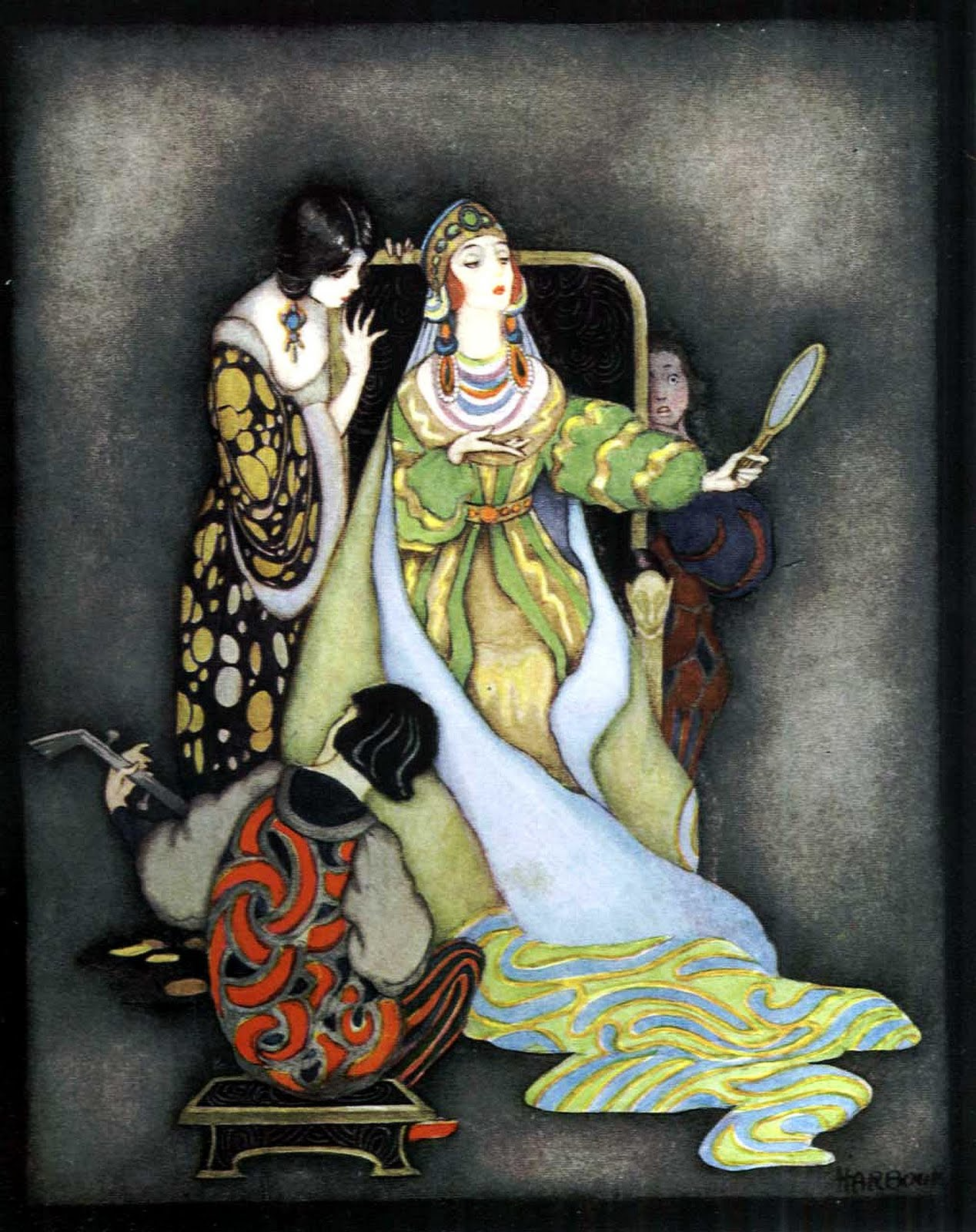 1 Vredenburg, Eric, editor. My Book of Favourite Fairy Tales. Jennie Harbour, illustrator. London Raphael Tuck _ Sons, 1921