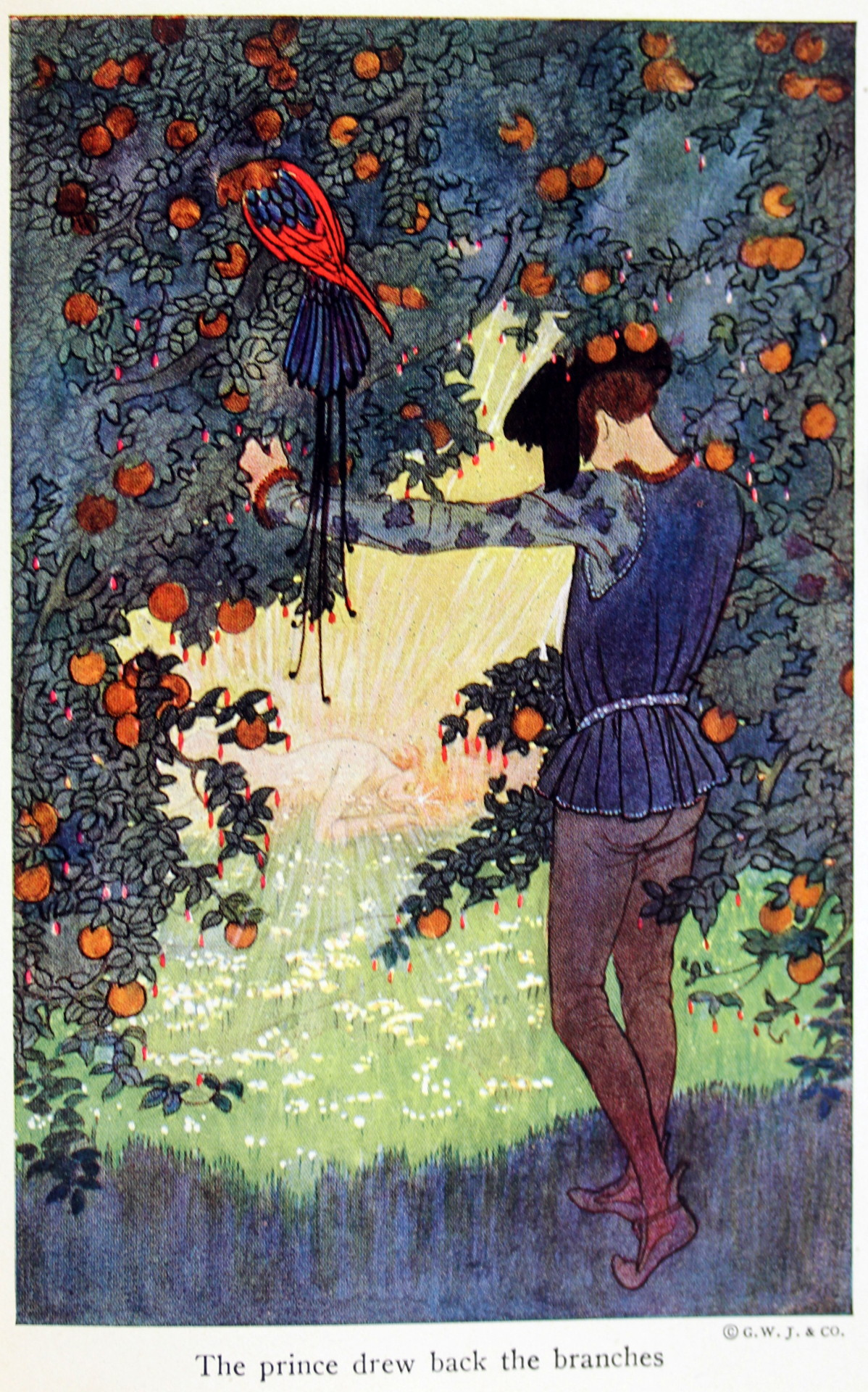 """4 Illustrations by Eleanor Plaisted Abbot, from """"The Flower Maiden _ Other Stories"""" by Hans Christian Anderson (1922)."""