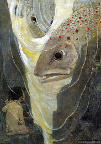 6 by Jessie Willcox Smith. Published in The Water Babies by Charles Kingsley. New York - Dodd, Mead _ Co., 1916,