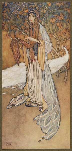 8 Stories from the Arabian nights retold by Laurence Housman_ with drawings by Edmund Dulac London Hodder and Stoughton, 1907